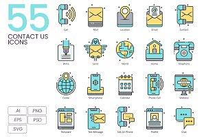 55 Contact Us Icons | Aqua