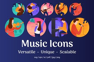 60 Music Vector Icons