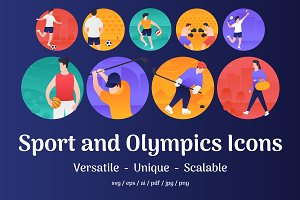 Sports and Olympics Vector Icons
