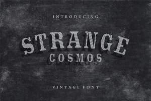 Strange Cosmos Vintage Display Font