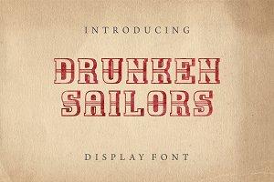Drunken Sailors Display Font