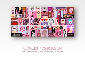 Concert Poster design vector artwork