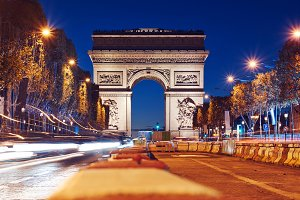 Triumphal Arch of the Star at night