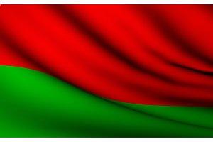 Flying Flag of Belarus . All
