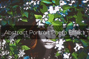Abstract Portrait Photo Effect