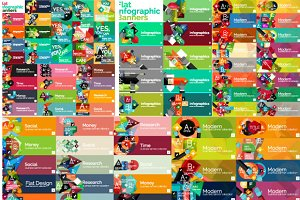 Over 150 flat infographic banners