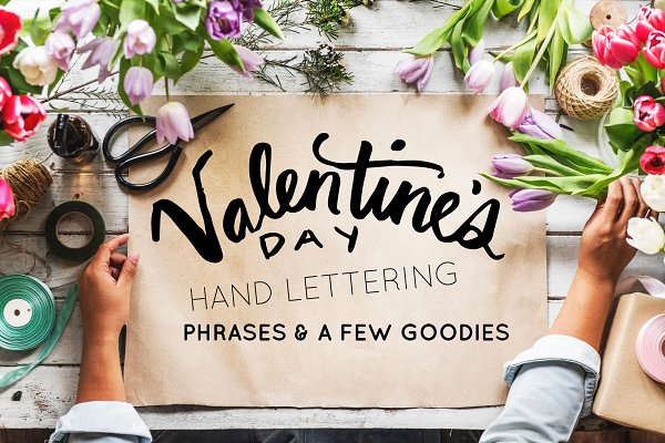 Valentine's Day Handlettered Phrase…