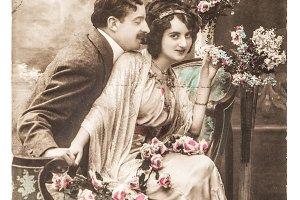 Sentimental romantic couple in love