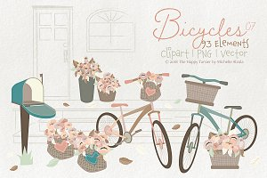 Bicycles 07 - Clipart, PNG & Vector
