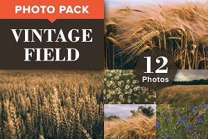 VINTAGE FIELD (12 Premium Photos)