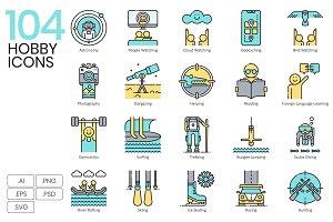 104 Hobby Icons | Aqua