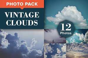 VINTAGE CLOUDS (12 Premium Photos)