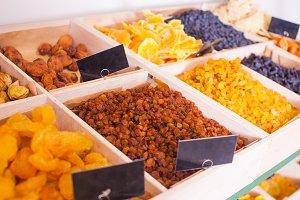 Dry fruits and raisins mix at eco