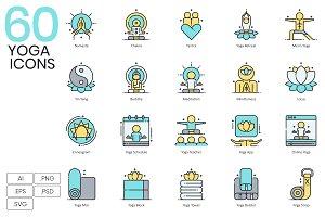 60 Yoga Icons | Aqua