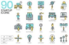 90 Startup Icons | Aqua by  in Icons