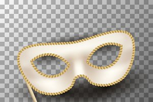 Beige carnival mask