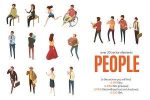 Isometric People Society Set
