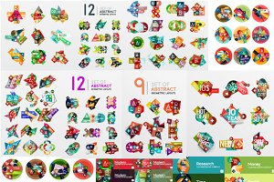 Abstract banners and infographics