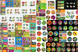 Mega set of diverse infographics