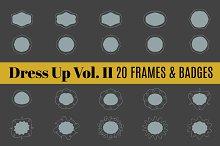 Dress Up Vol 2 | 20 Frames & Border