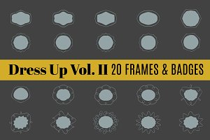 Dress Up Vol 2 | 20 Frames & Border