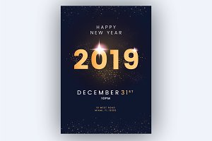Happy new year flyer/poster! (Sale!)