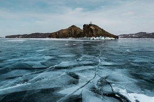 Baikal Lake winter landscape