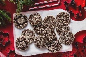 banner of  Christmas chocolate cooki