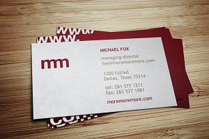 More More More Business Card