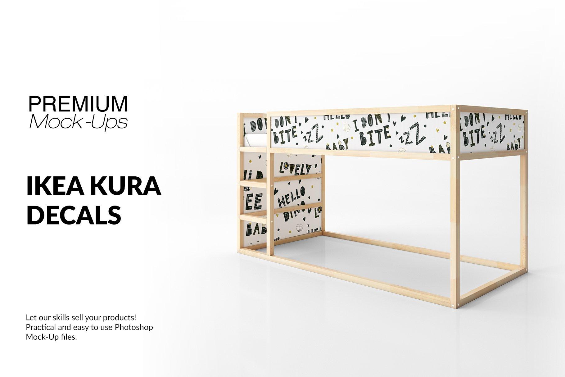 Ikea Kura Sticker Mockup Set Creative Photoshop Templates Market