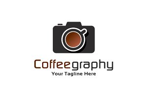 Coffee & Camera Logo Template