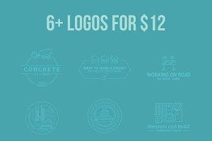 6+ logos for $12