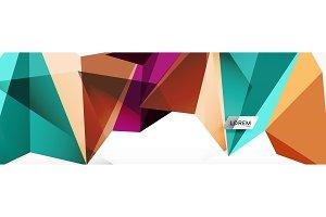 Mosaic triangular low poly style