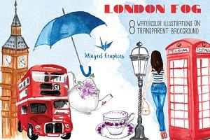 London fog: england illustrations