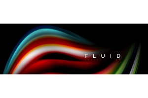 Abstract wave line water 3d