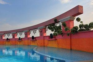 Elegant pool on the twentieth floor