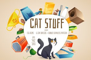 Cat stuff set 26 items + bonus