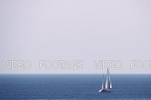 Waterscape with sea, sky and sailing
