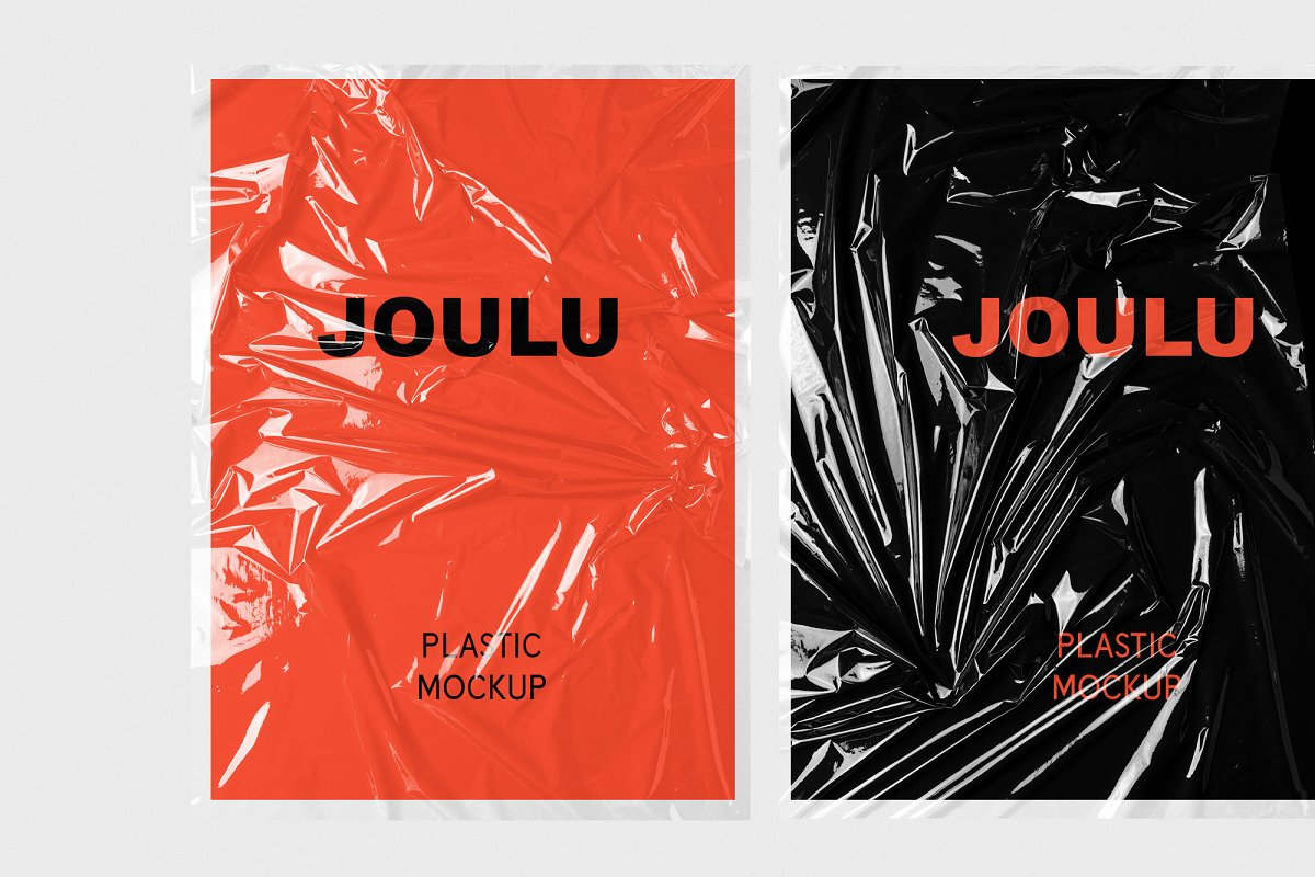 JOULU - Plastic Wrinkle Mockup  in Product Mockups - product preview 1