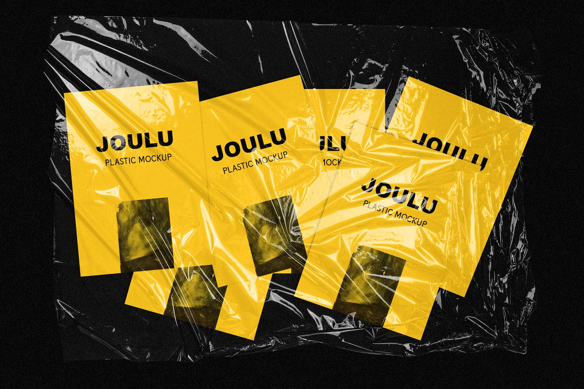 JOULU - Plastic Wrinkle Mockup in Product Mockups - product preview 2
