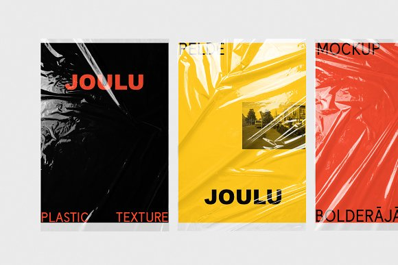 JOULU - Plastic Wrinkle Mockup in Product Mockups - product preview 4