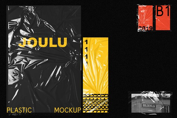 JOULU - Plastic Wrinkle Mockup in Product Mockups - product preview 7
