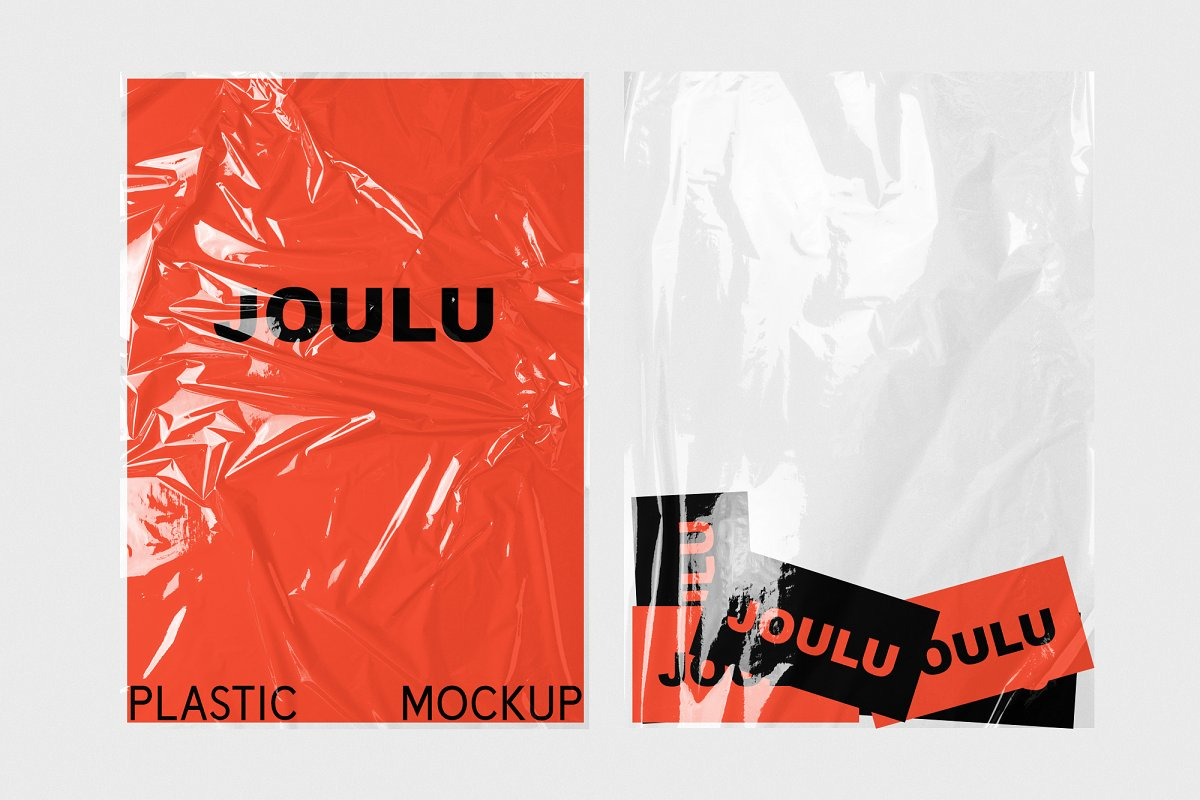 JOULU - Plastic Wrinkle Mockup in Product Mockups - product preview 10