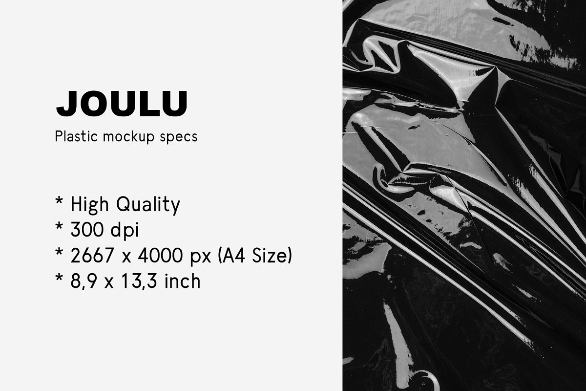 JOULU - Plastic Wrinkle Mockup  in Product Mockups - product preview 14
