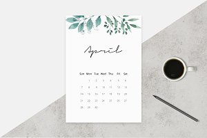 2019 Watercolor Calendar