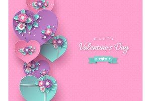 Valentines day holiday design.