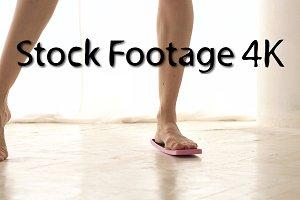 Legs of ballerina. Rotation training