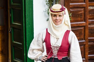 Typical costume of La Palma, Canary