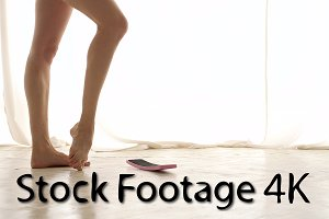 Legs of ballerina. Pirouette