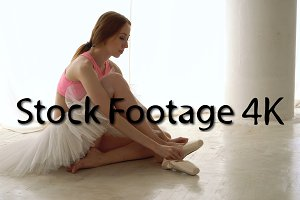 Ballerina Wearing Pointe Shoes